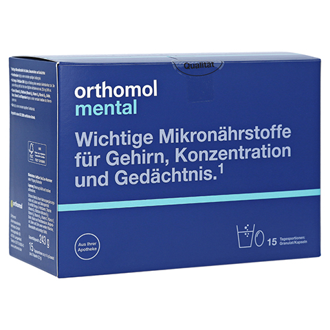 ORTHOMOL mental Granulat+Kapseln 15 Tagesportionen 1 Packung