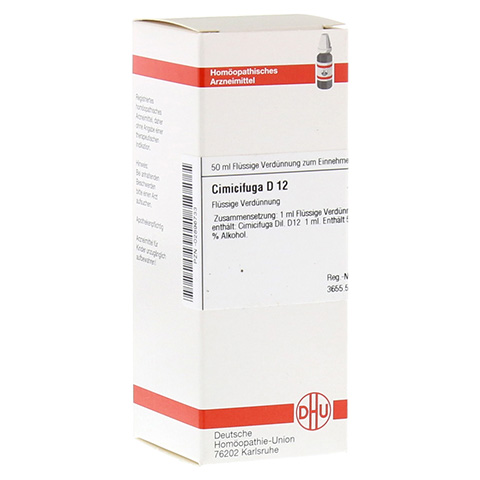 CIMICIFUGA D 12 Dilution 50 Milliliter N1
