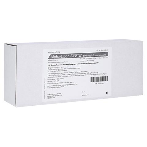 ALPHA LIPON Aristo 600 mg Infusionslösung 5x100 Milliliter N1