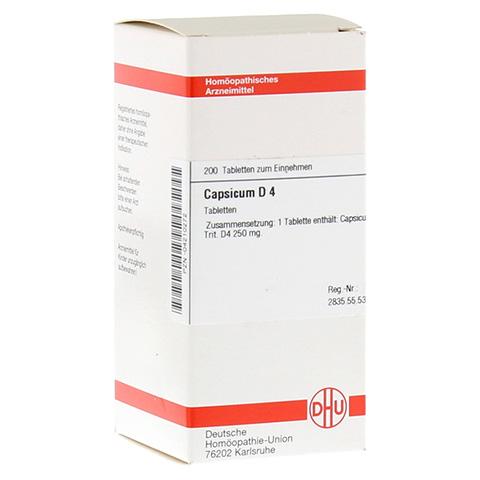 CAPSICUM D 4 Tabletten 200 Stück N2