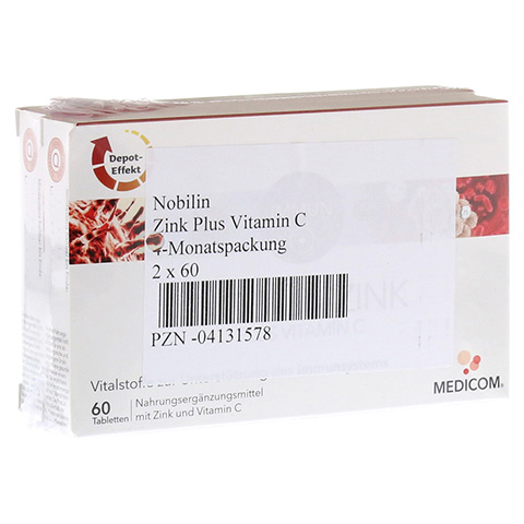 NOBILIN Zink Plus Vitamin C Tabletten 2x60 Stück