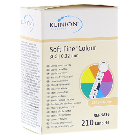 KLINION Soft fine colour Lanzetten 30 G 210 Stück
