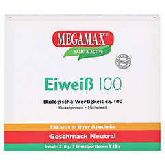 EIWEISS 100 Neutral Megamax Pulver 7x30 Gramm - Vorderseite