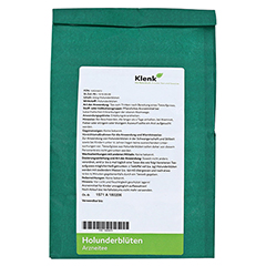 Holunderblüten Tee 250 Gramm - Rückseite