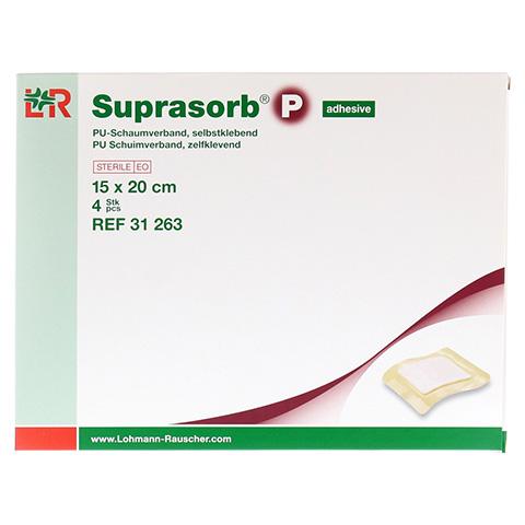 SUPRASORB P PU-Schaumv.selbstklebend 15x20 cm 4 Stück