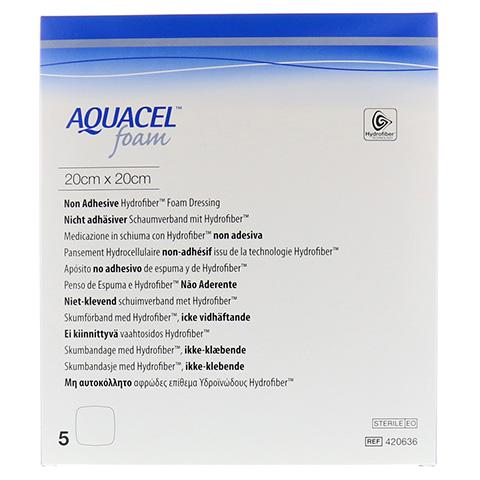 AQUACEL Foam nicht adhäsiv 20x20 cm Verband 5 Stück
