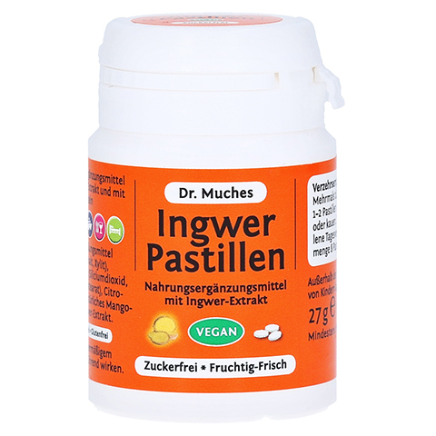 Dr. Muches Ingwer Pastillen zuckerfrei 27 Gramm