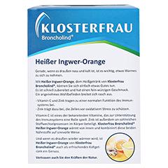 KLOSTERFRAU Broncholind heißer Ingwer-Orange Gran. 10x15 Gramm - Rückseite
