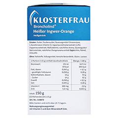 KLOSTERFRAU Broncholind heißer Ingwer-Orange Gran. 10x15 Gramm - Linke Seite