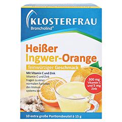 KLOSTERFRAU Broncholind heißer Ingwer-Orange Gran. 10x15 Gramm - Vorderseite