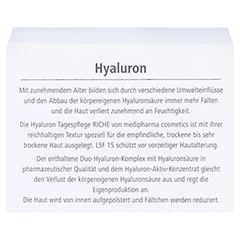 medipharma Hyaluron Tagespflege Riche LSF 15 50 Milliliter - Rückseite