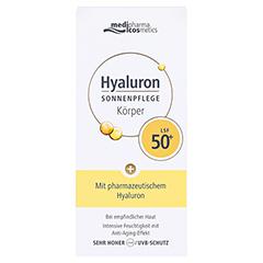 HYALURON SONNENPFLEGE Körper Creme LSF 50+ 150 Milliliter - Vorderseite