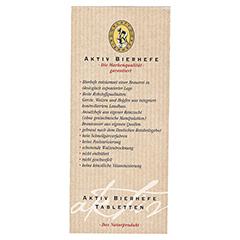 AKTIV BIERHEFE Tabletten 500 Stück - Rückseite