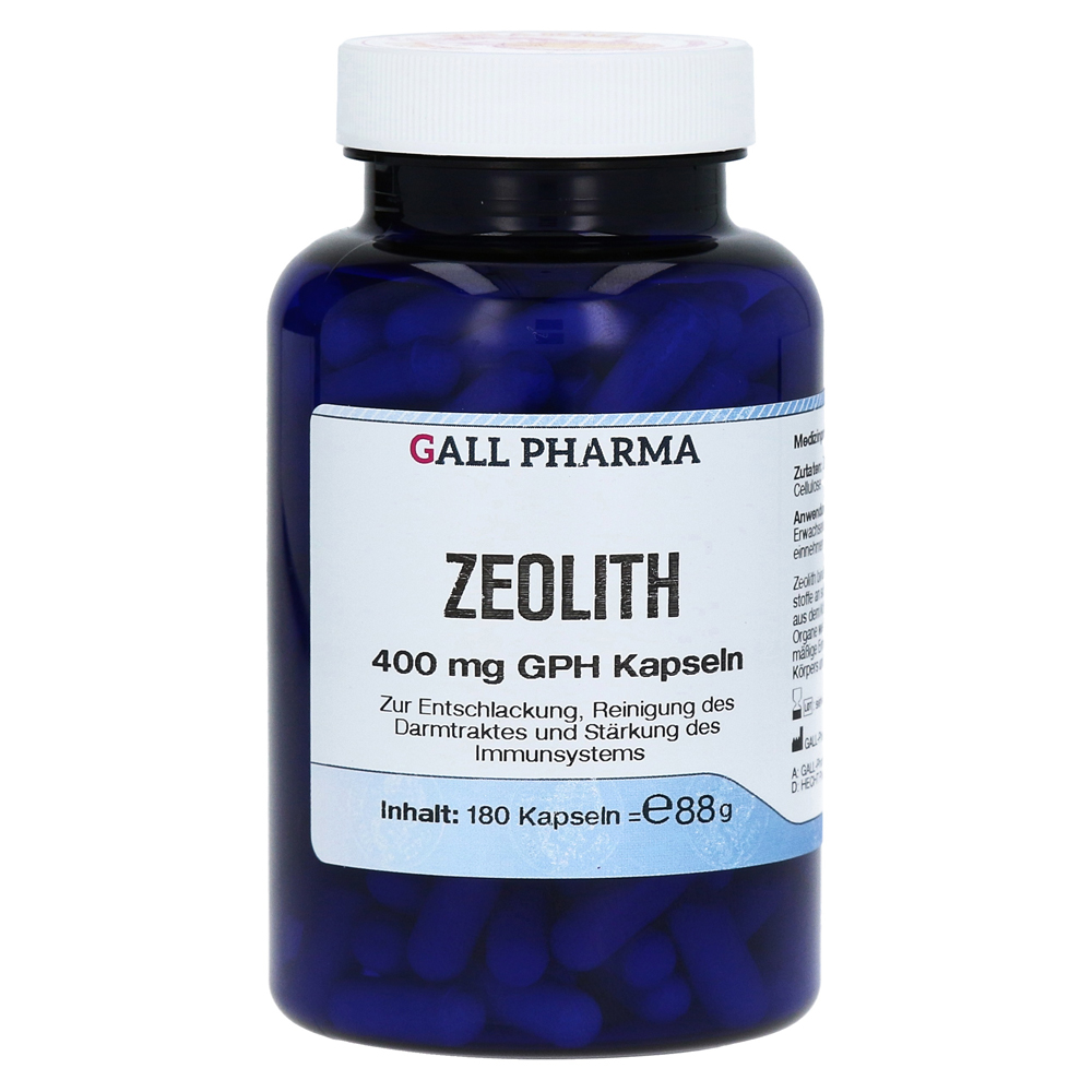zeolith 400 mg gph kapseln 180 st ck online bestellen medpex versandapotheke. Black Bedroom Furniture Sets. Home Design Ideas