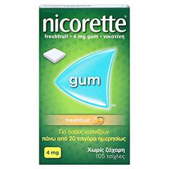 Nicorette 4mg freshfruit 105 Stück - Vorderseite