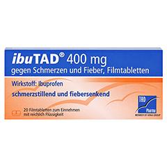 IbuTAD 400mg gegen Schmerzen und Fieber 20 Stück - Vorderseite