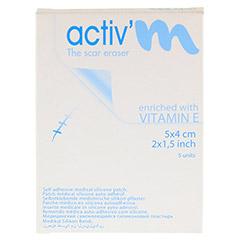 ACTIV'M Narbenpflaster mit Vitamin E 4x5 cm 5 Stück - Vorderseite