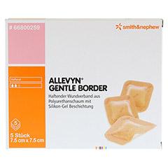 ALLEVYN Gentle Border 7,5x7,5 cm Schaumverb. 5 Stück - Vorderseite