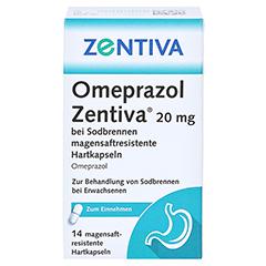 Omeprazol Zentiva 20mg bei Sodbrennen 14 Stück - Vorderseite