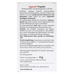 SANHELIOS Aagaard Husten-Pastillen mit Propolis 30 Stück - Rückseite