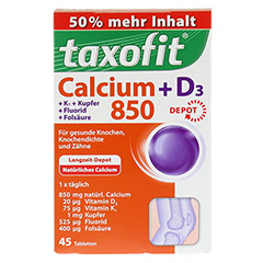 TAXOFIT Calcium 850+D3 Depot Tabletten 45 Stück - Vorderseite