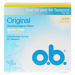 O.B. Tampons Original normal 64 Stück - Vorderseite