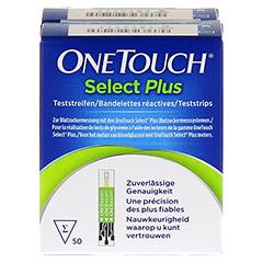 ONE TOUCH Select Plus Blutzucker Teststreifen 100 Stück - Vorderseite