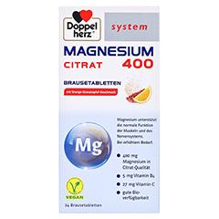 DOPPELHERZ Magnesium 400 Citrat system Brausetabl. 24 Stück - Vorderseite
