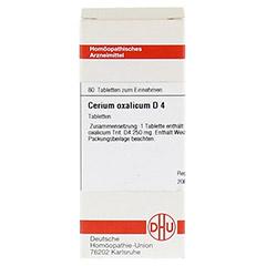 CERIUM OXALICUM D 4 Tabletten 80 Stück N1 - Vorderseite