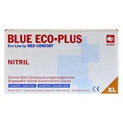 HANDSCHUHE Einmal Nitril XL blau 100 Stück - Vorderseite