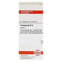TARAXACUM D 4 Tabletten 80 Stück N1 - Vorderseite