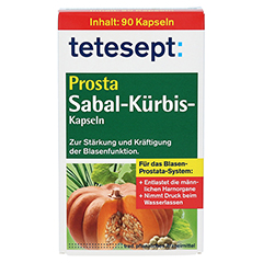 Tetesept Prosta Sabal-Kürbis Kapseln 90 Stück - Vorderseite