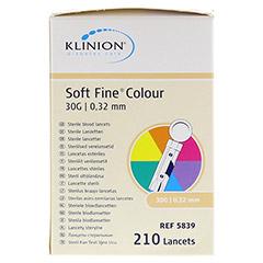 KLINION Soft fine colour Lanzetten 30 G 210 Stück - Vorderseite