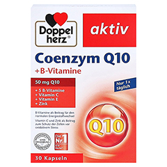 DOPPELHERZ Coenzym Q10+B Vitamine Kapseln 30 Stück - Vorderseite