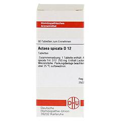 ACTAEA SPICATA D 12 Tabletten 80 Stück N1 - Vorderseite