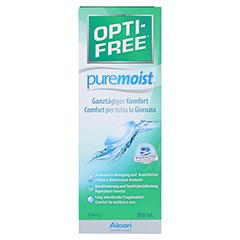 OPTI-FREE PureMoist Multifunktions-Desinf.Lsg. 300 Milliliter - Vorderseite