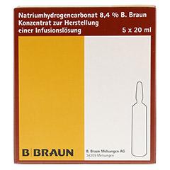 NATRIUMHYDROGENCARBONAT B.Braun 8,4% Glas 5x20 Milliliter - Vorderseite