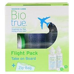 BIOTRUE All in one Lösung Flight Pack 2x60 Milliliter - Vorderseite