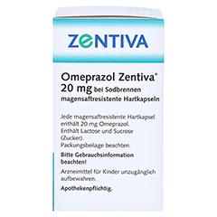 Omeprazol Zentiva 20mg bei Sodbrennen 14 Stück - Linke Seite
