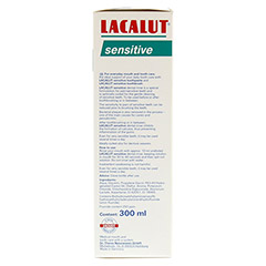 LACALUT sensitive Zahnspül-Lösung 300 Milliliter - Linke Seite