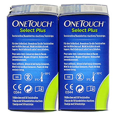ONE TOUCH Select Plus Blutzucker Teststreifen 100 Stück - Linke Seite