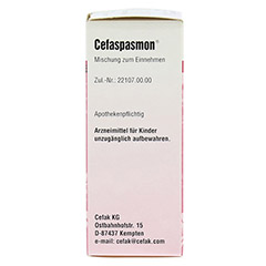 CEFASPASMON Tropfen zum Einnehmen 50 Milliliter N1 - Linke Seite
