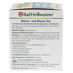 Bad Heilbrunner Nieren- und Blasen Tee 15 Stück - Linke Seite