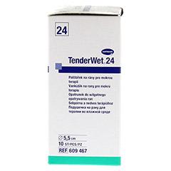 TENDERWET 24 Kompressen 5,5 cm rund steril 10 Stück - Linke Seite