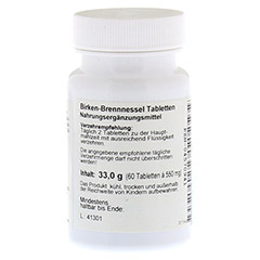 BIRKEN BRENNESSEL Tabletten 60 Stück - Linke Seite