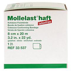 MOLLELAST haft Binden latexfrei 8 cmx20 m weiß 1 Stück - Linke Seite