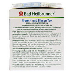 Bad Heilbrunner Nieren- und Blasen Tee 15 Stück - Rechte Seite