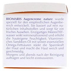 BIOMARIS Augencreme nature 15 Milliliter - Rechte Seite