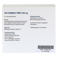VITAMIN E FORTE 400 I.E. Weichkapseln 120 Stück - Rückseite