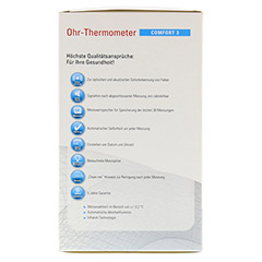 APONORM Fieberthermometer Ohr Comfort 3 infrarot 1 Stück - Rückseite